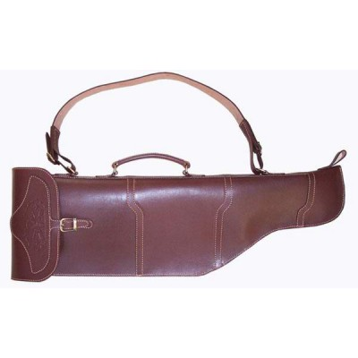 Чехол кожаный классический для оружия с откидывающимися стволами 84 см