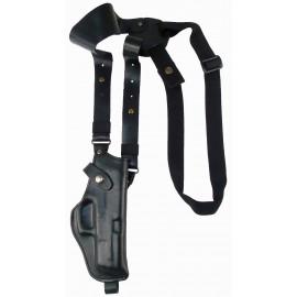Кобура оперативная Glock 17 кожаная формованная с комбинированным креплением вертикальная