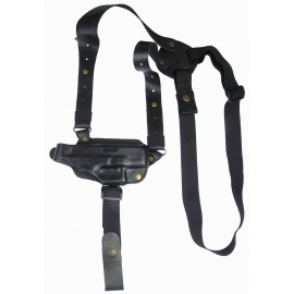 Кобура оперативная Glock 26 кожаная формованная с комбинированным креплением