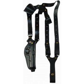 Кобура оперативная ТТ кожаная формованная с кожаным креплением вертикальная
