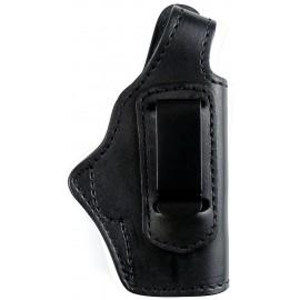 Кобура поясная Walther PP кожаная со скобой универсальная