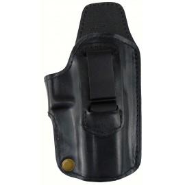 Кобура поясная Glock 19 кожаная формованная трехслойная со скобой