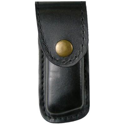 Чехол кожаный  формованный под магазин Glock 43, поясной