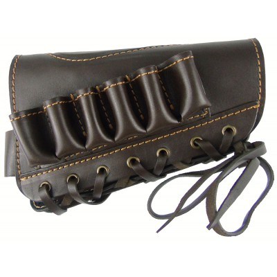 Патронташ кожаный открытый на приклад 12к*6 патр.
