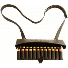 Патронташ шкіряний дворядний плечовий на 24 патрона 12 калібру