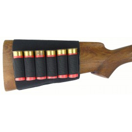 Патронташ синтетический эластичный на приклад на 6 патронов 12 калибра
