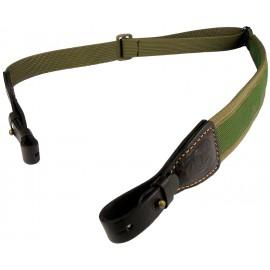 Ремень синтетический ружейный с кожаным креплением на кобурной застежке