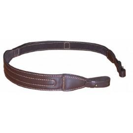 Ремень кожаный ружейный с фиксатором для руки с подкладом и креплением на кобурной застежке