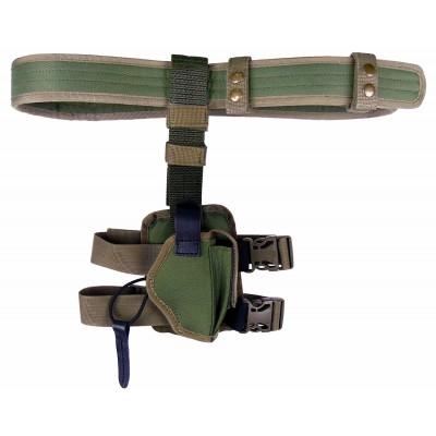 Кобура Форт 12 синтетична на стегно двошарова на ремені