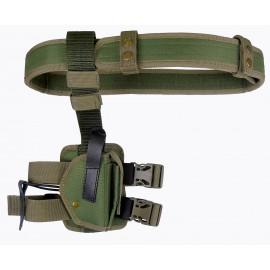 Кобура Glock 17 синтетическая набедренная двухслойная на ремне